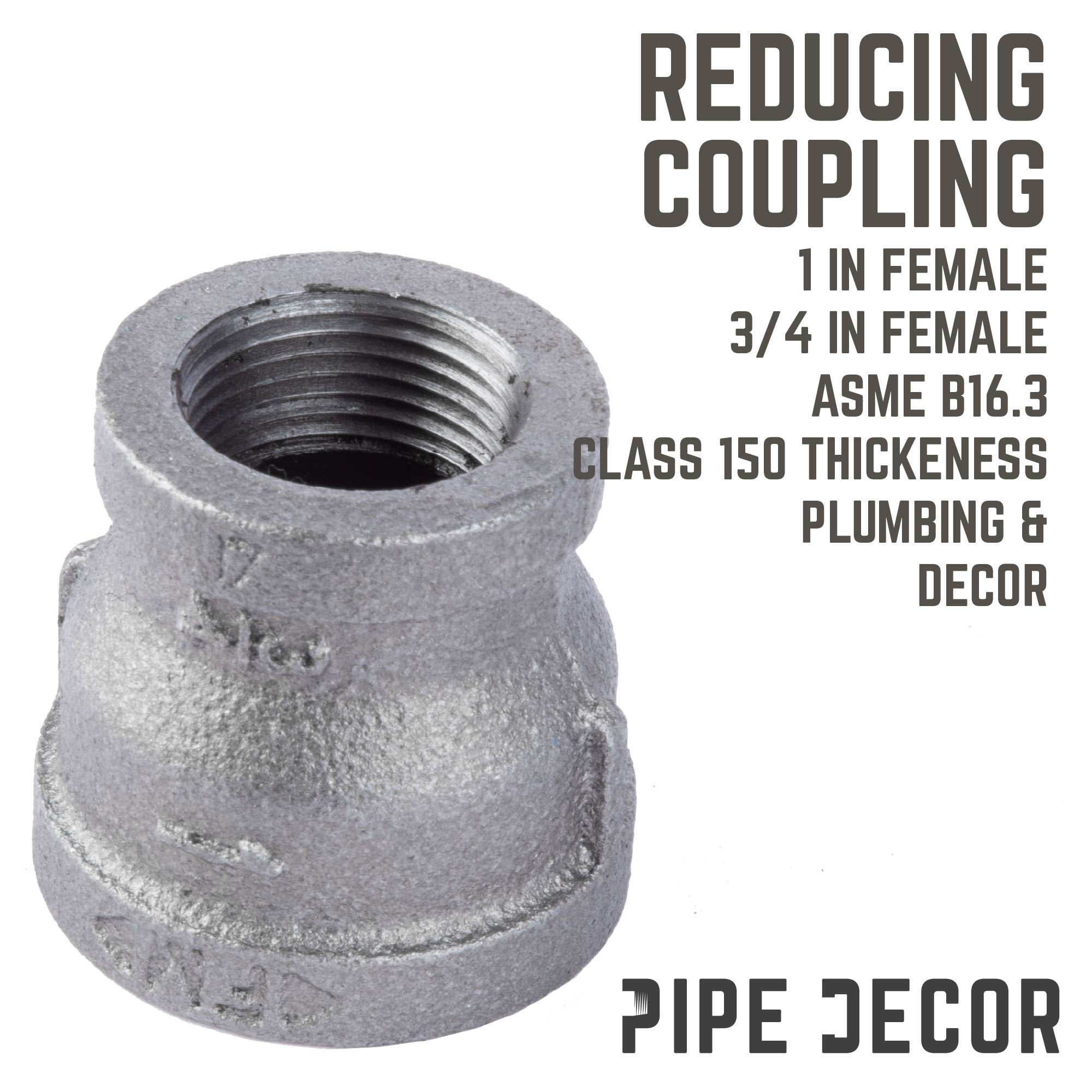 1 IN X 3/4 IN REDUCING COUPLING