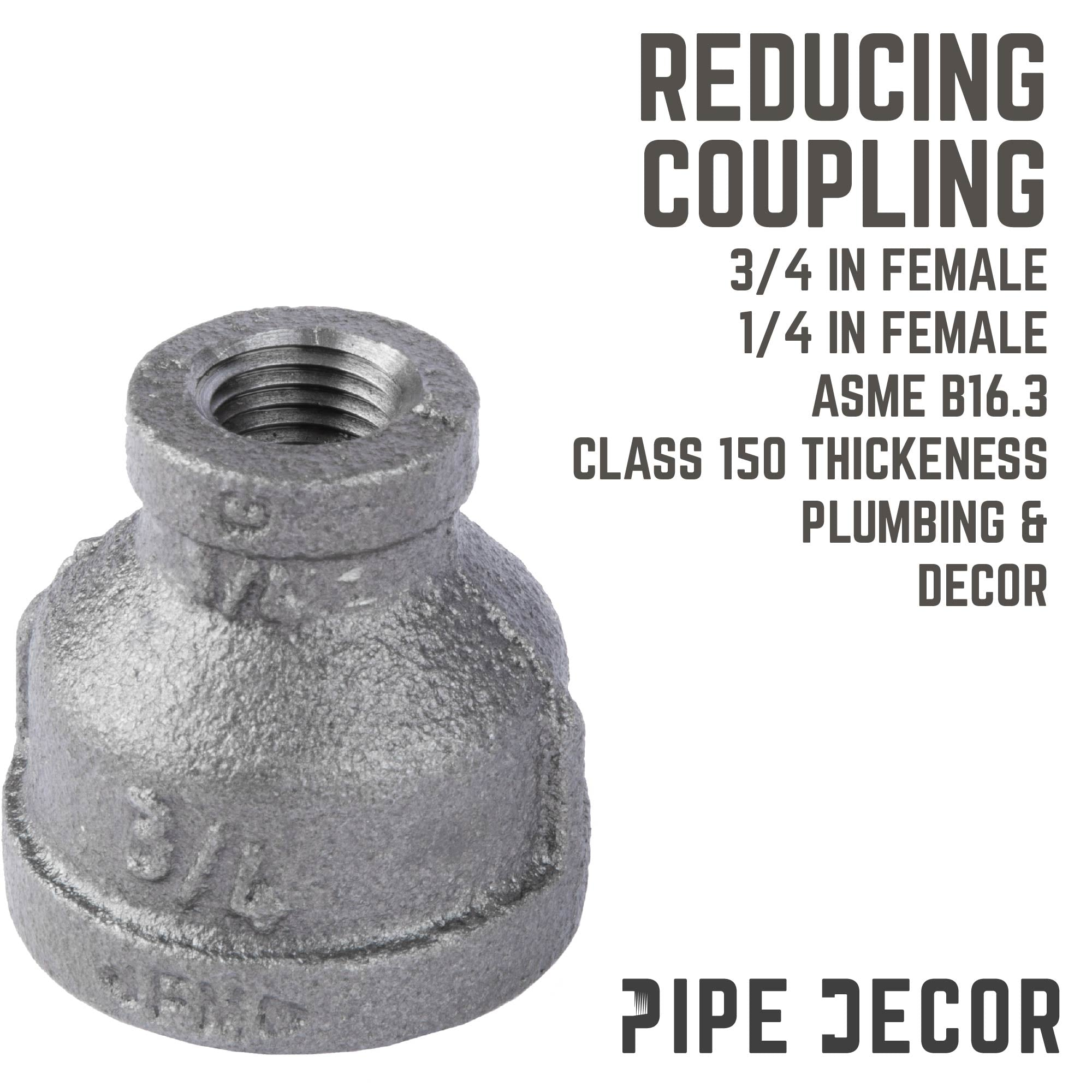 3/4 IN X 1/4 IN REDUCING COUPLING