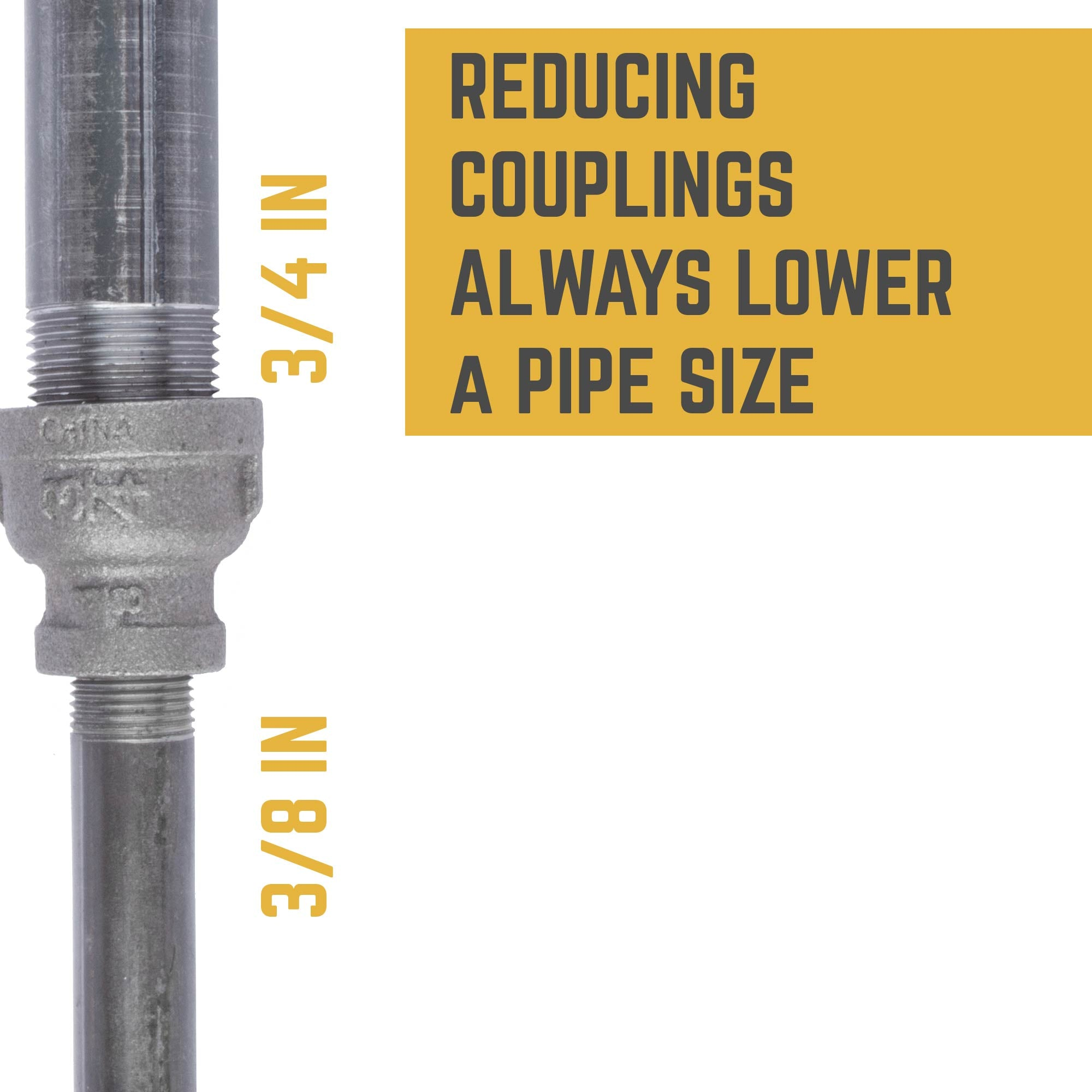 3/4 IN X 3/8 IN REDUCING COUPLING