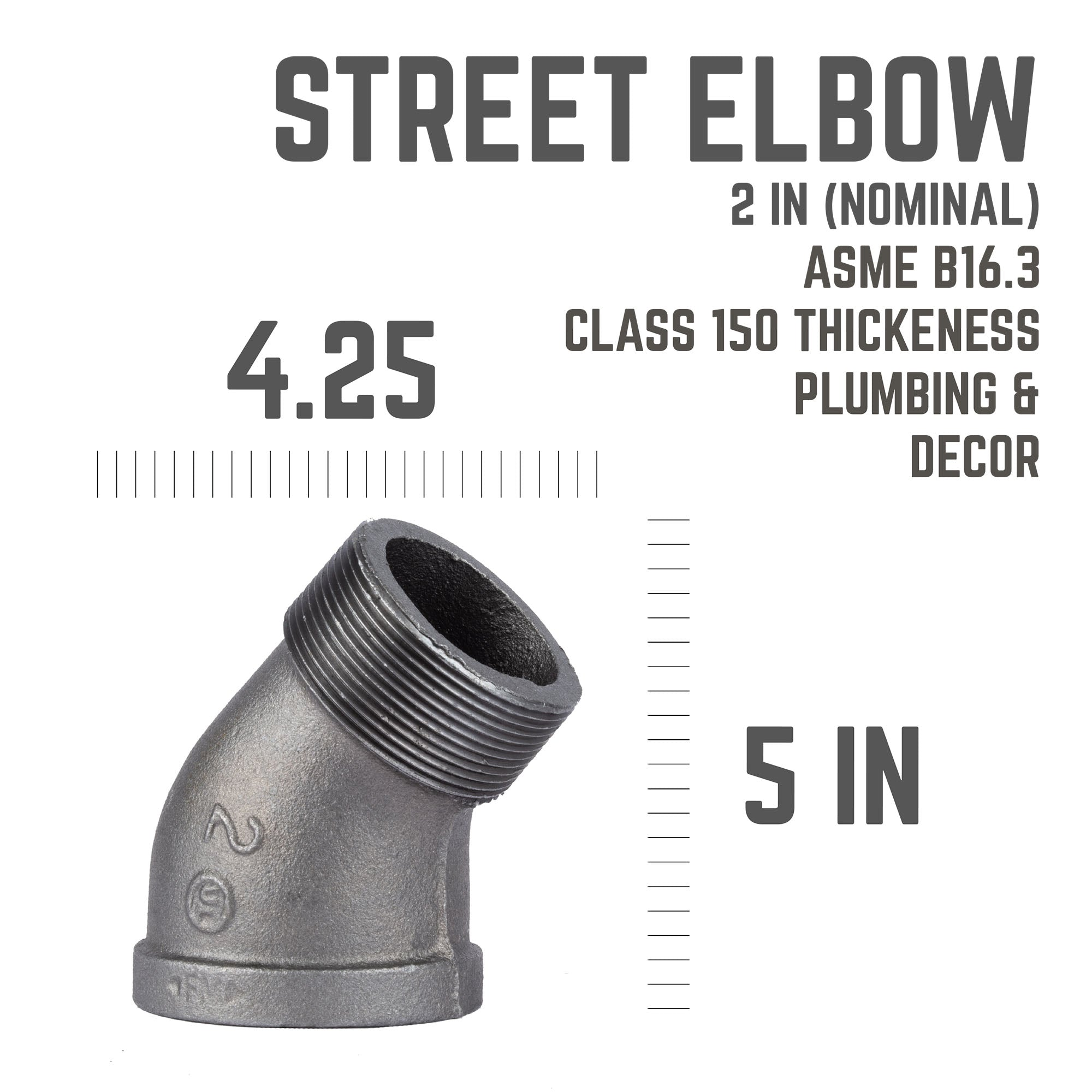 2 In 45 Street Elbow