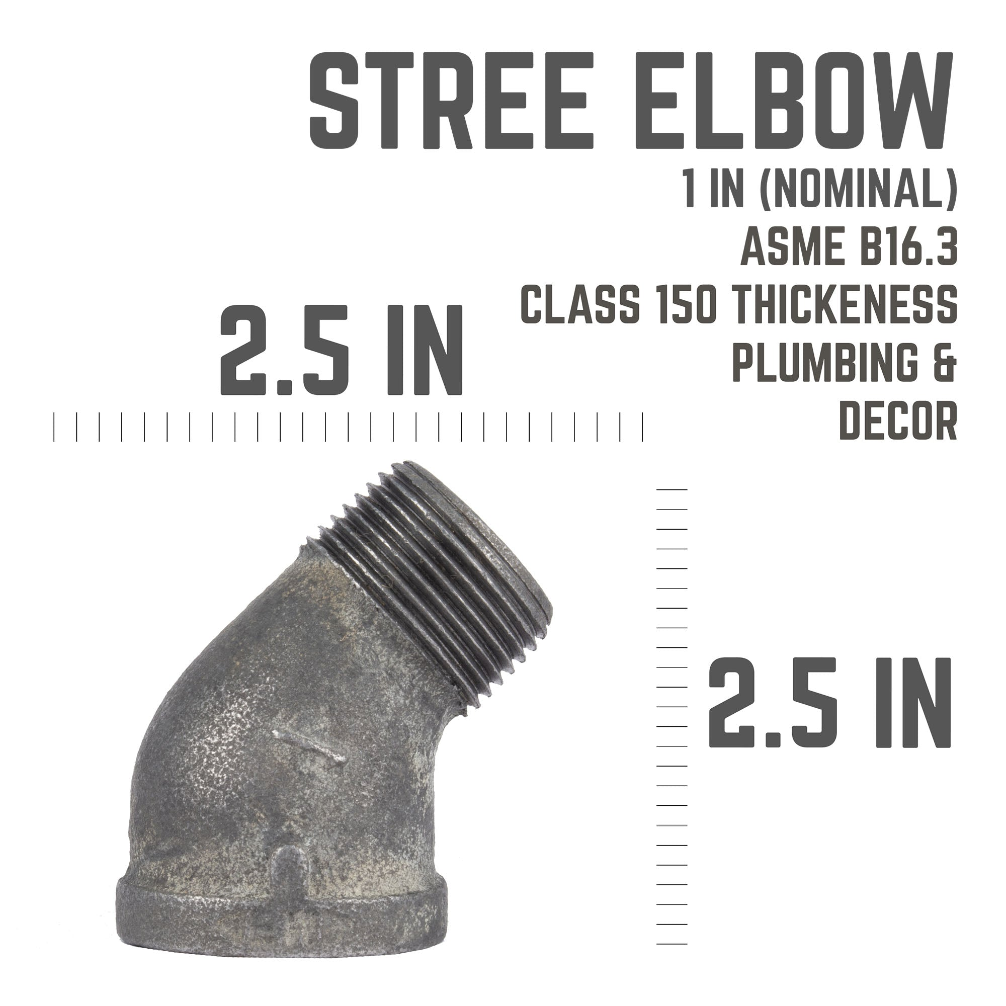 1 In  45 Street Elbow - Pipe Decor
