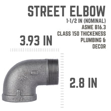 Load image into Gallery viewer, 1 1/2 In 90 Degree Street Elbow