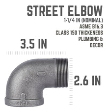 Load image into Gallery viewer, 1 1/4 In 90 Degree Street Elbow
