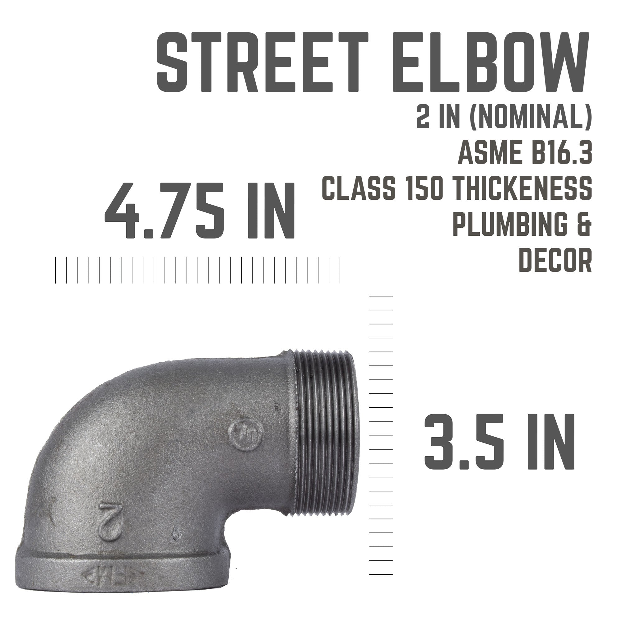 2 In 90 Degree Street Elbow
