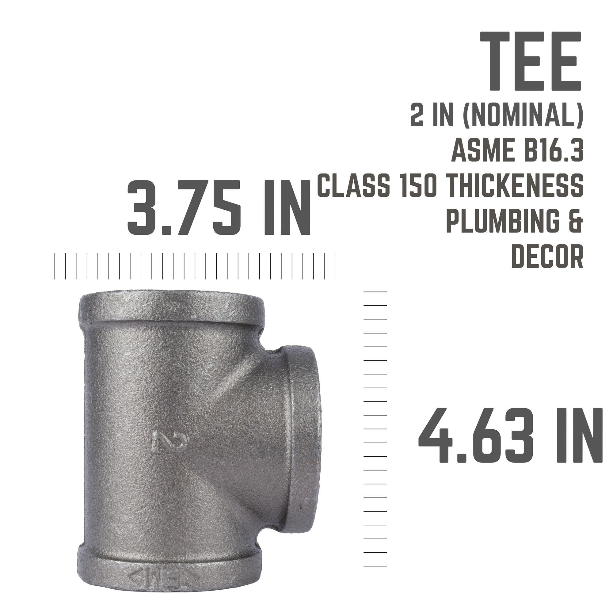 2 In Black Tee - Pipe Decor