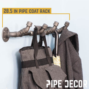 4 Hook Coat Rack By PIPE DECOR