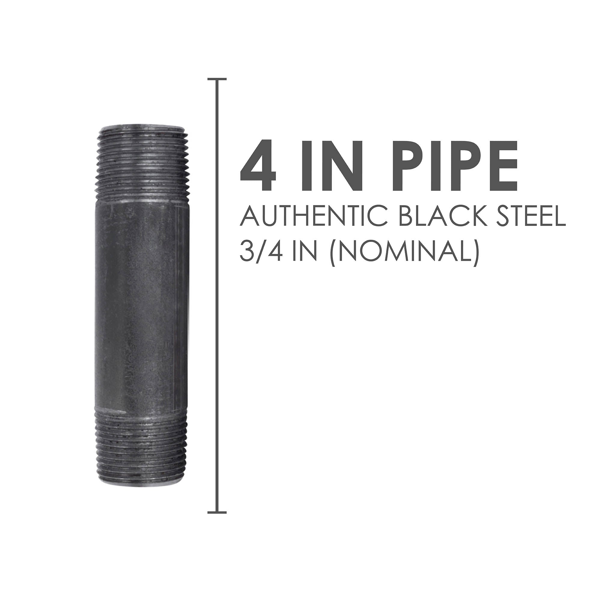 3/4 In X 4 In Black Pipe