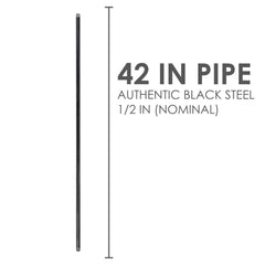 1/2  In X 42 In Black Pipe - Pipe Decor