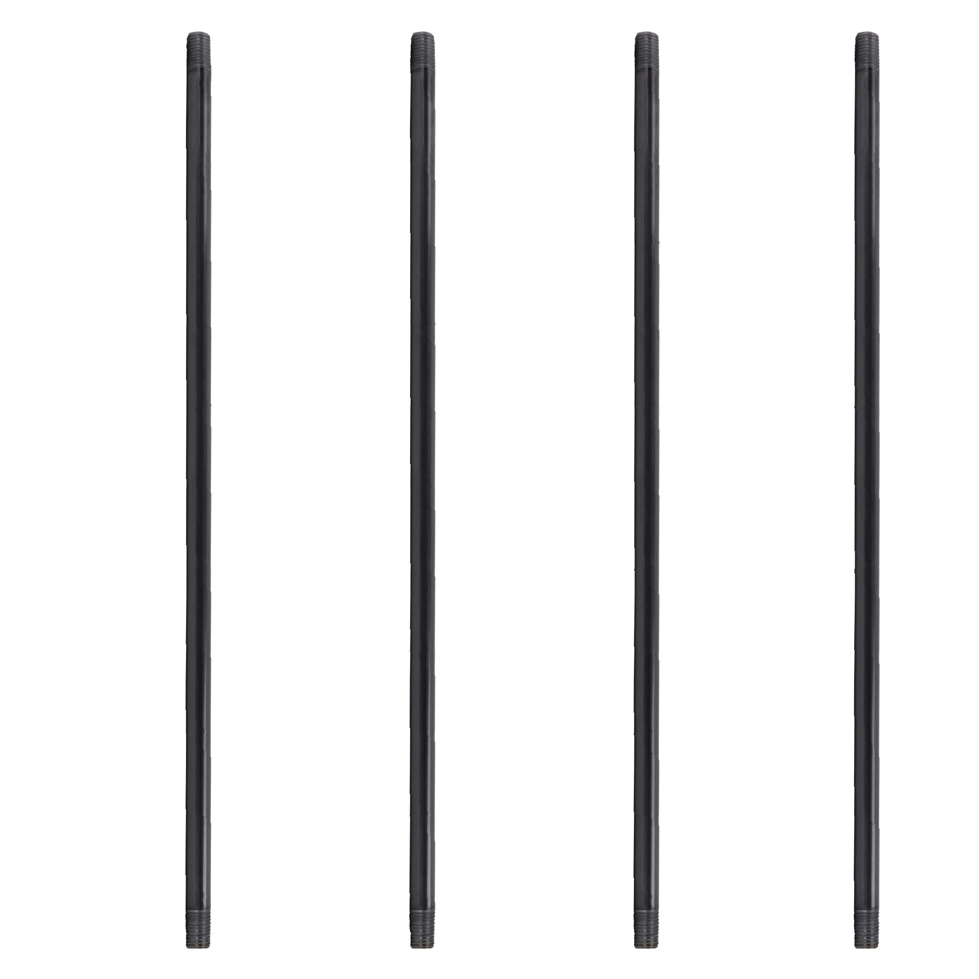 1 in. X 72 in. Black Pipe 4 Pack - Pipe Decor