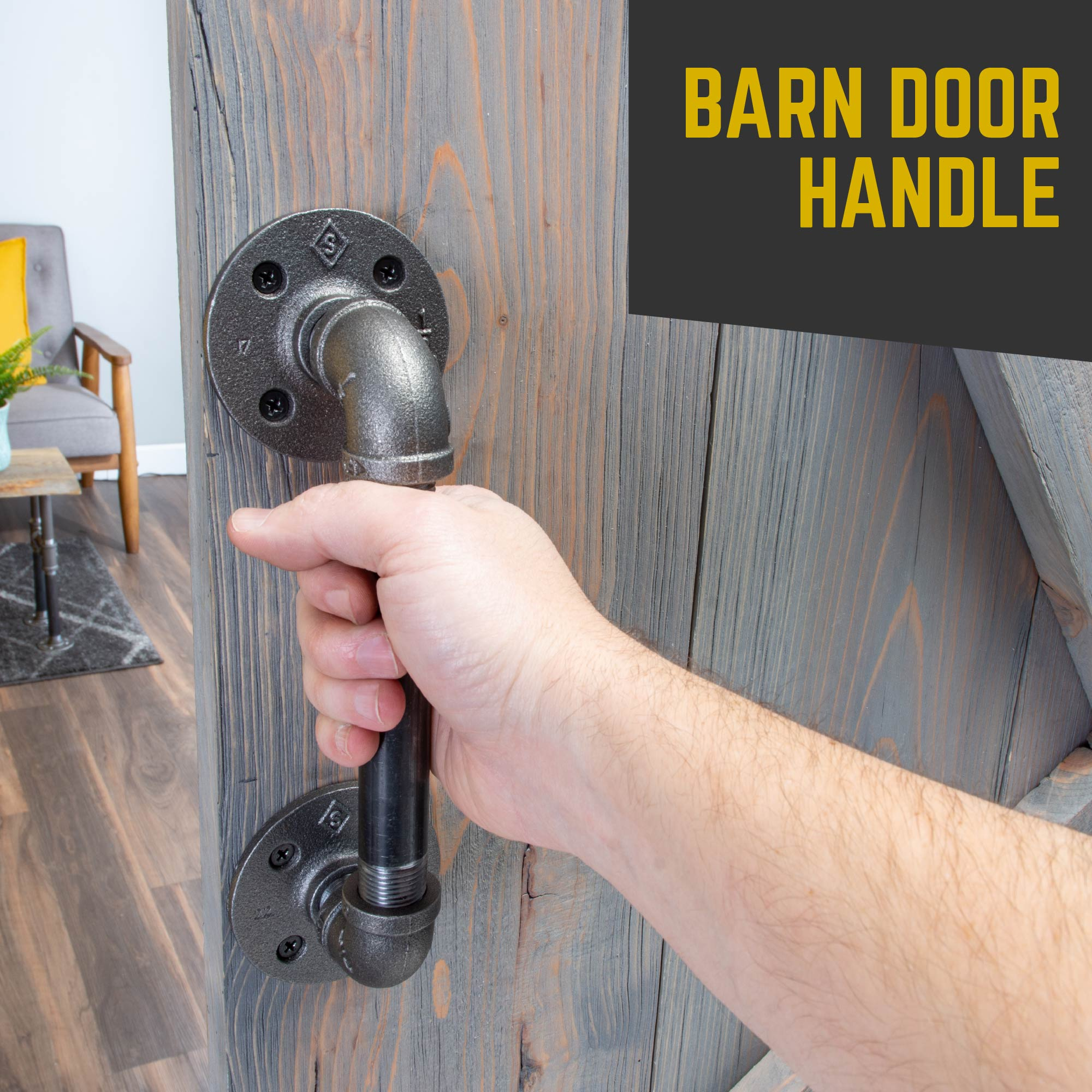 1/2 In. x 6 in. Barn Door Handle - 10.5 in. L