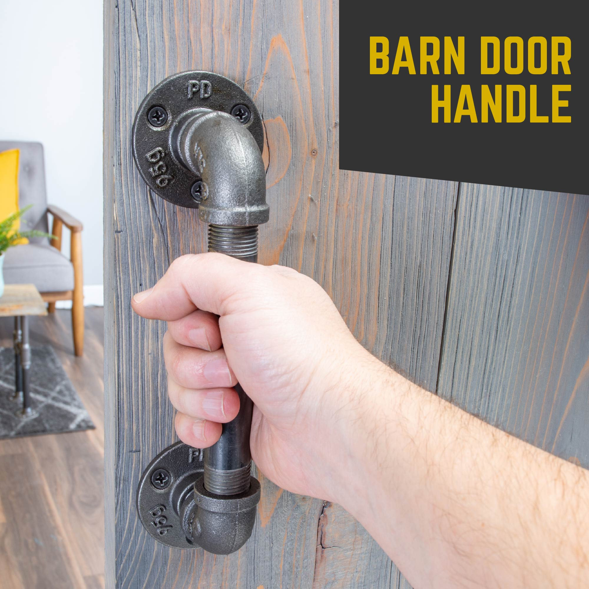 1/2 in. Barn Door Handle - Mini Flange - 9.875 L