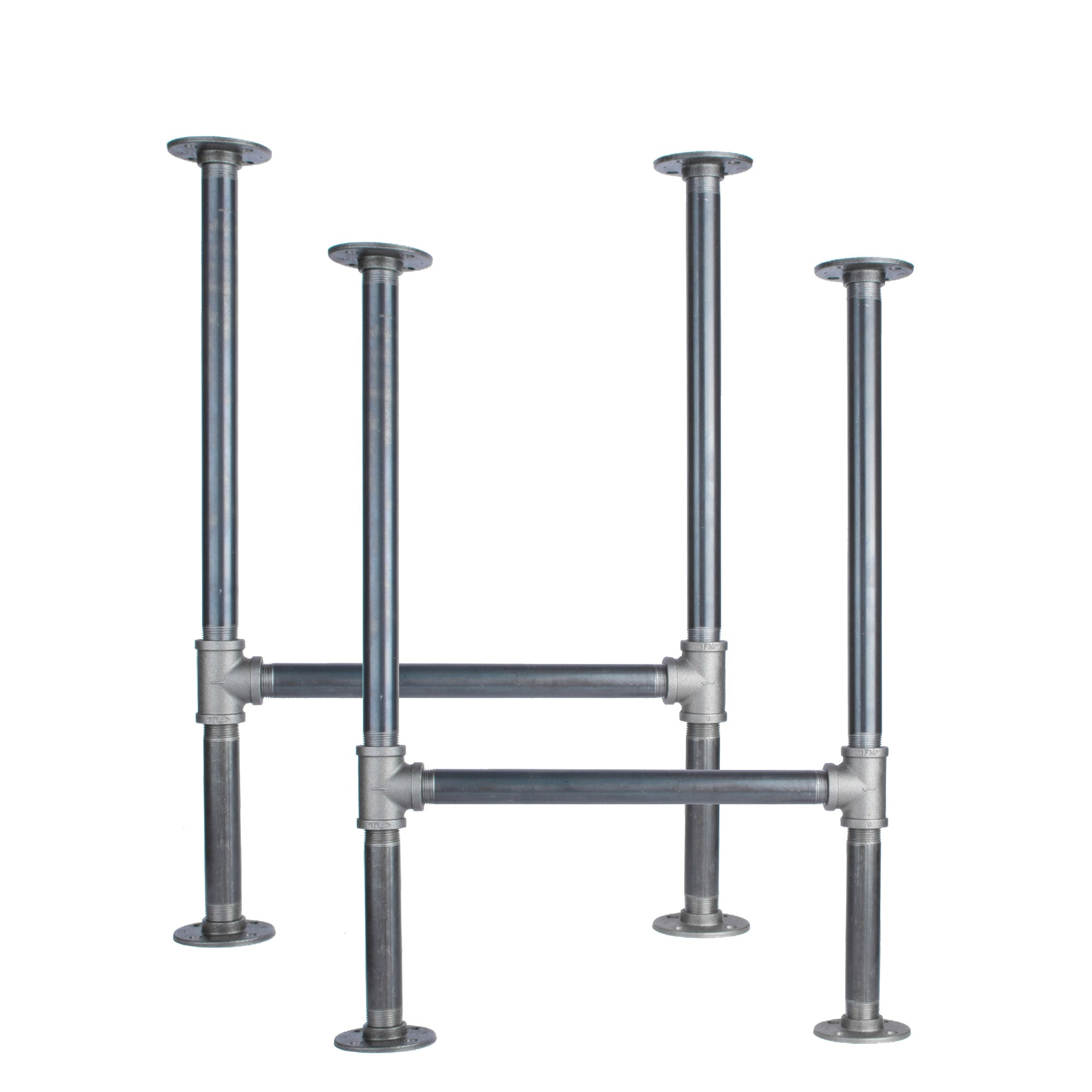 1 in. Heavy Duty H Desk Legs - 2 Pack