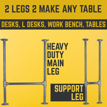 Load image into Gallery viewer, 1 in. Heavy Duty H Desk Leg - 1 Pack