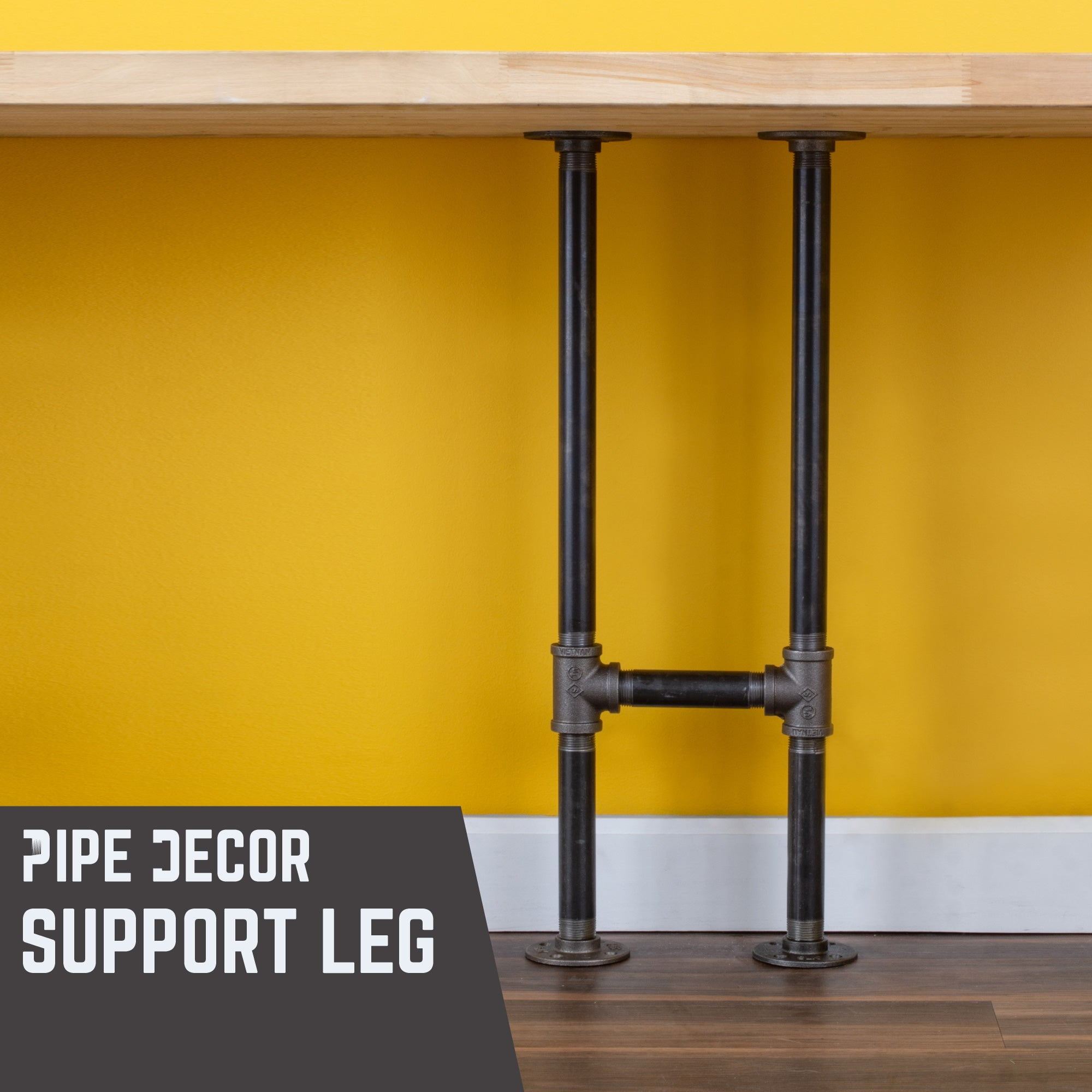 3/4 in. H Pipe Desk Support Legs - 1 Pack
