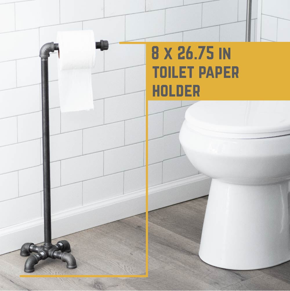 26.75 In Freestanding Toilet Paper Holder By PIPE DECOR