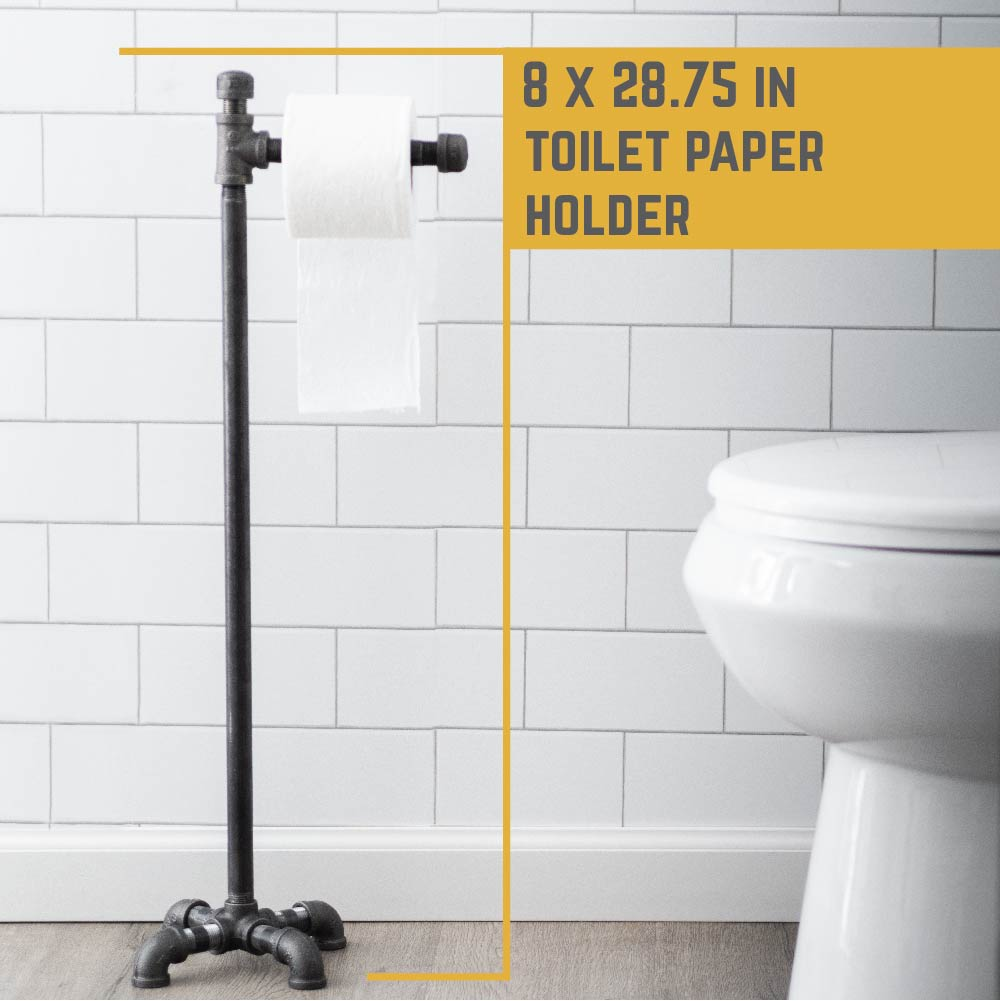 28.75 In Freestanding Toilet Paper Holder By PIPE DECOR