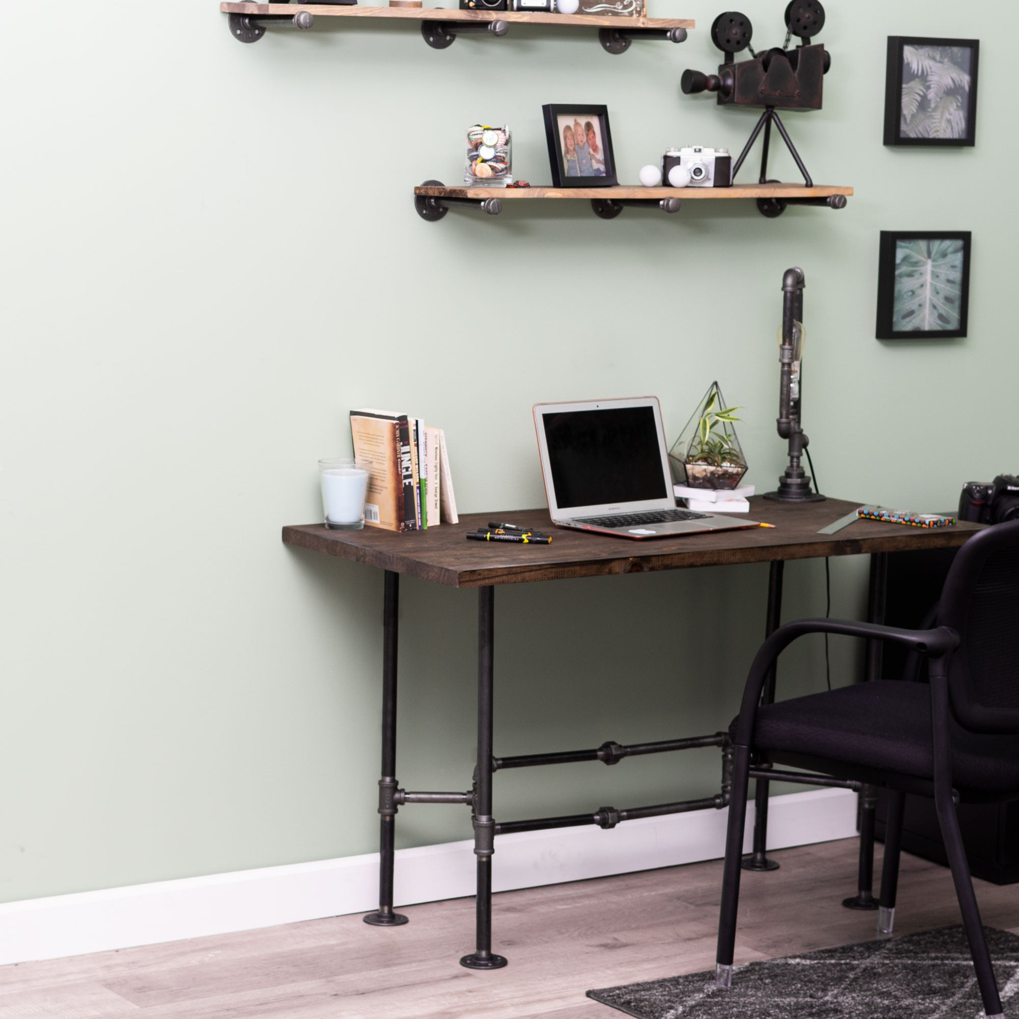 O Design Desk By PIPE DECOR - Pipe Decor