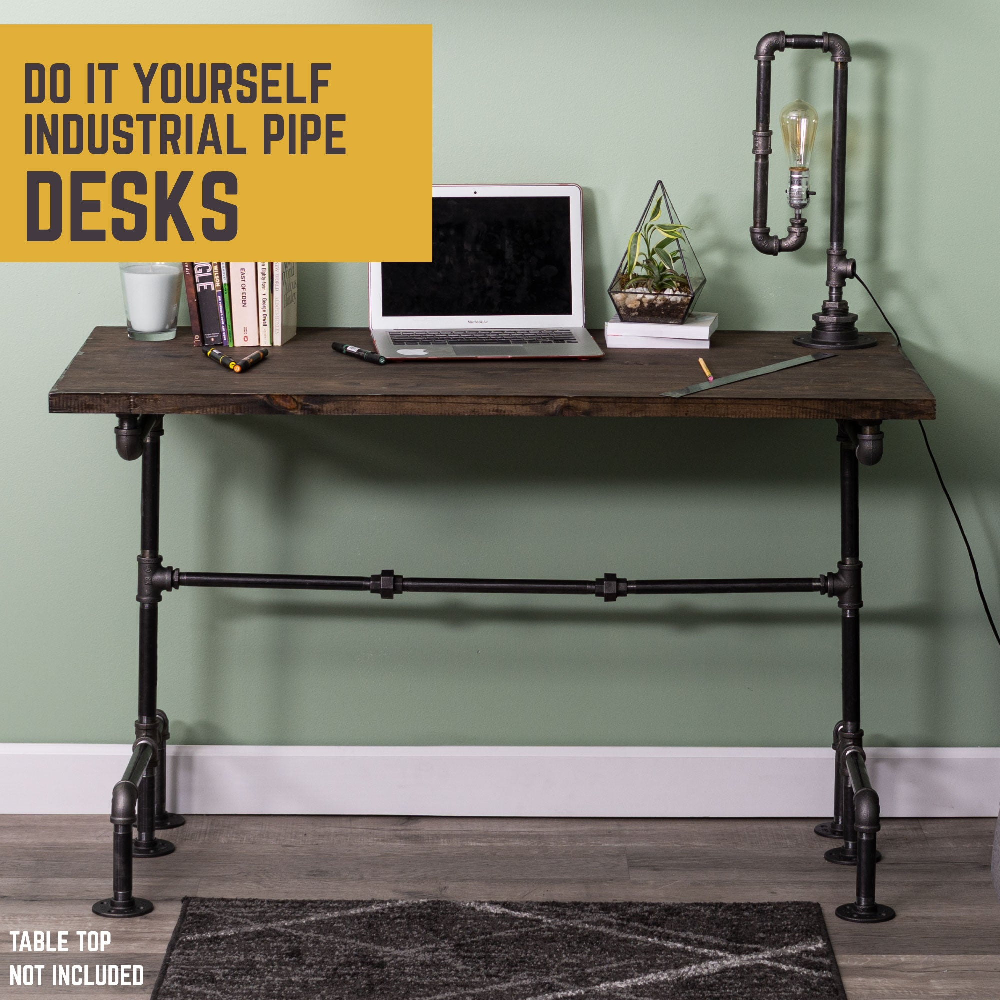 M Design Desk By PIPE DECOR - Pipe Decor