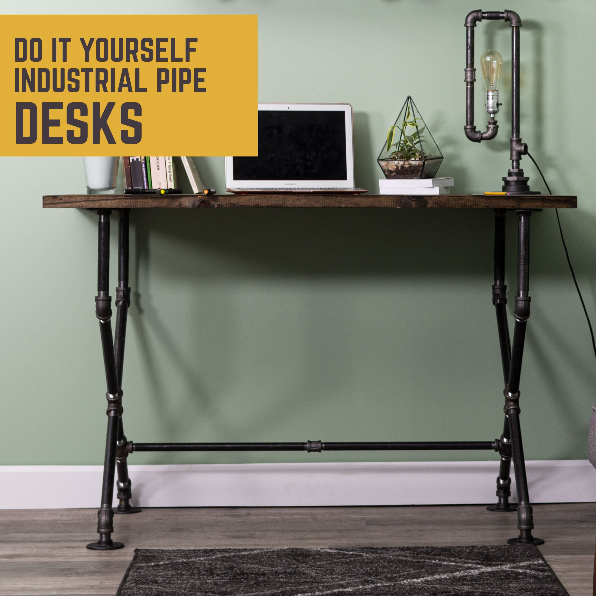 X Desk By PIPE DECOR