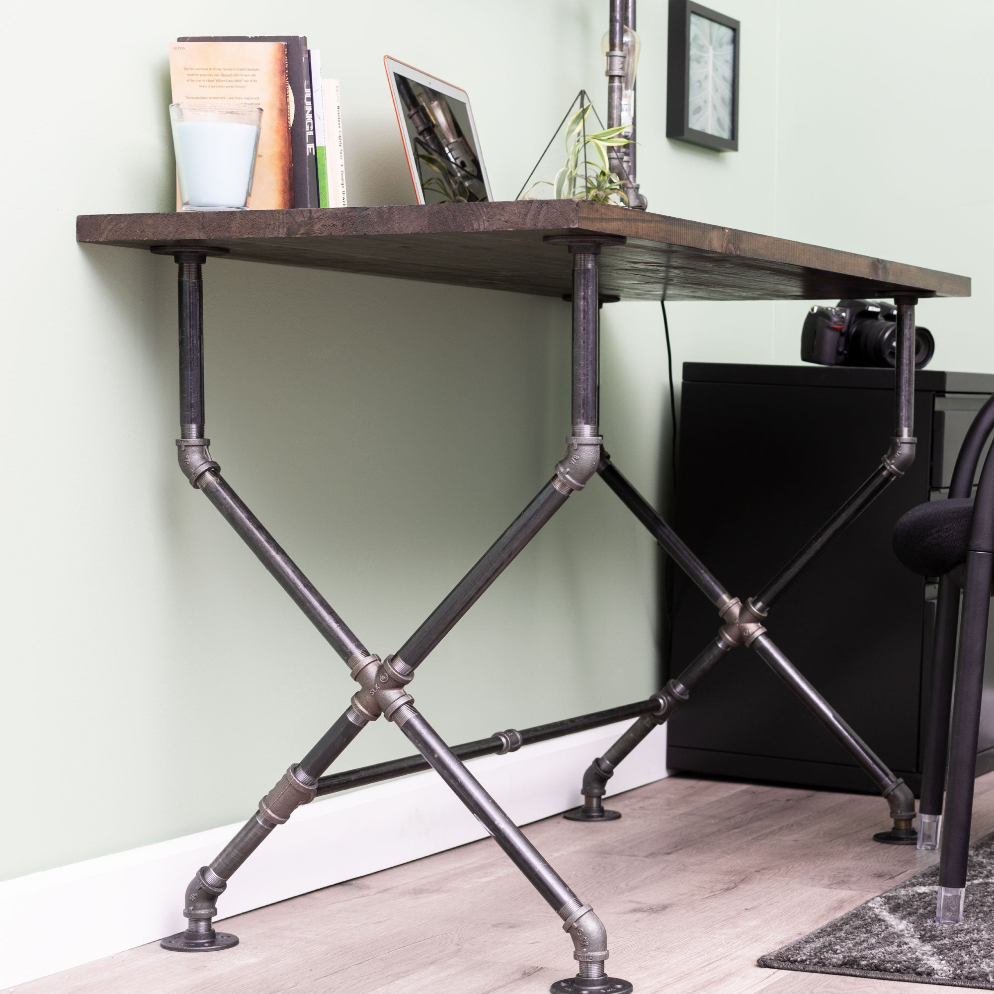X Desk By PIPE DECOR - Pipe Decor