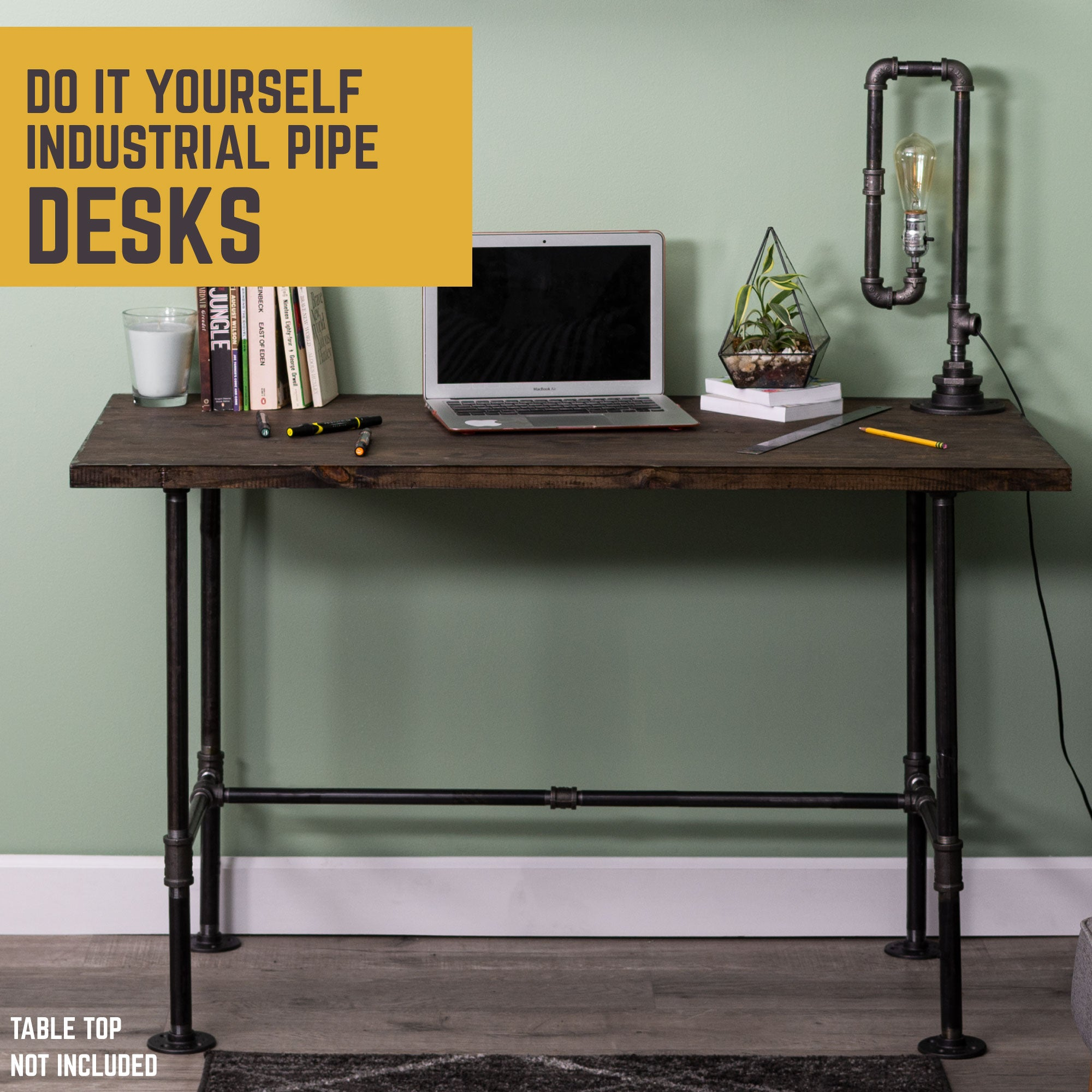 H Desk By PIPE DECOR