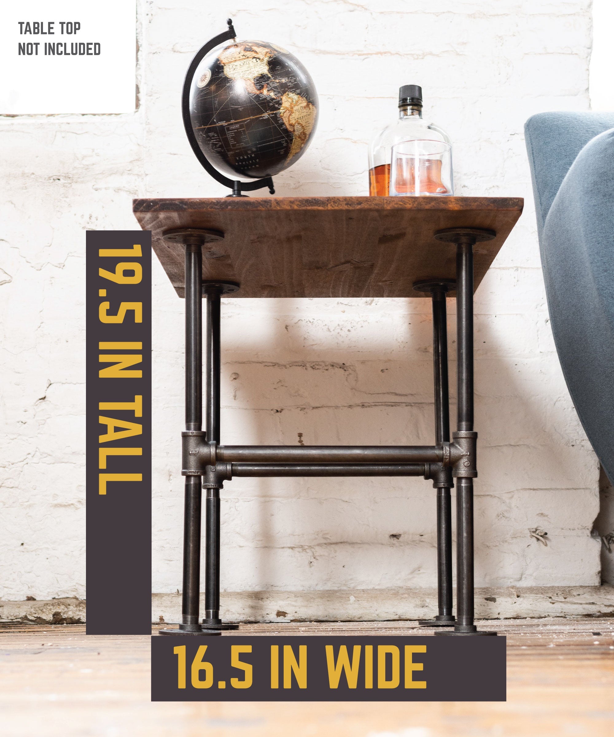 H End Table By PIPE DECOR