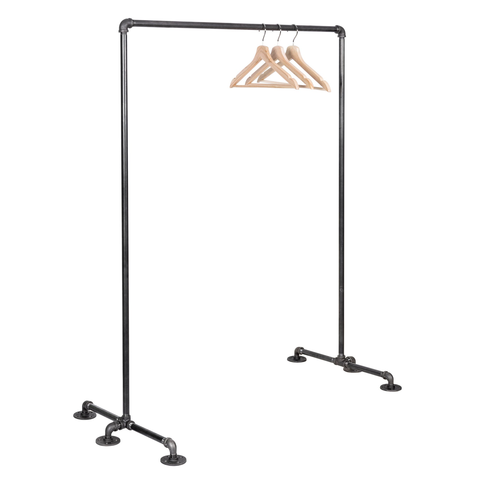 Freestanding Clothing Rack By PIPE DECOR - Pipe Decor