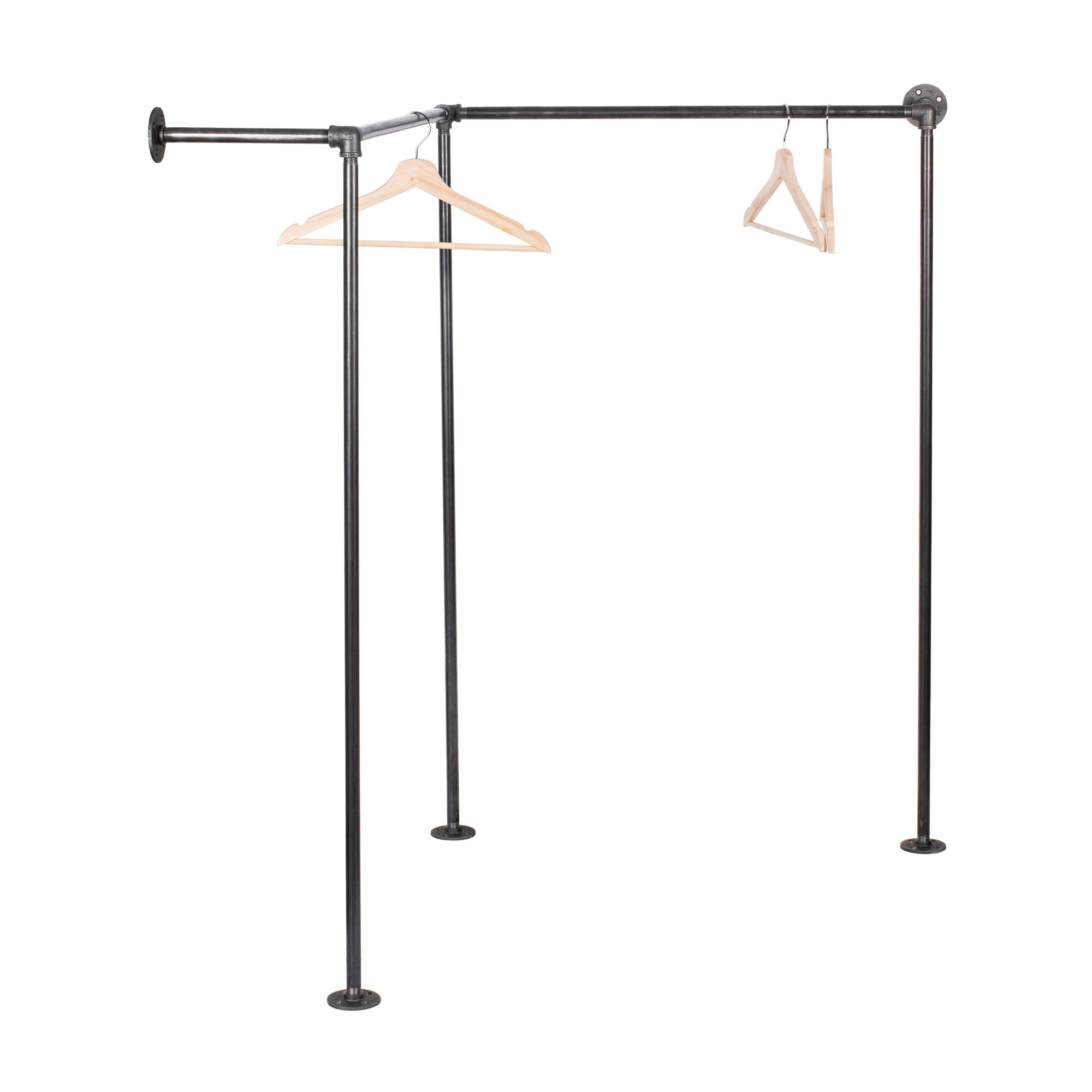 Wall And Floor Mounted Clothing Rack By PIPE DECOR