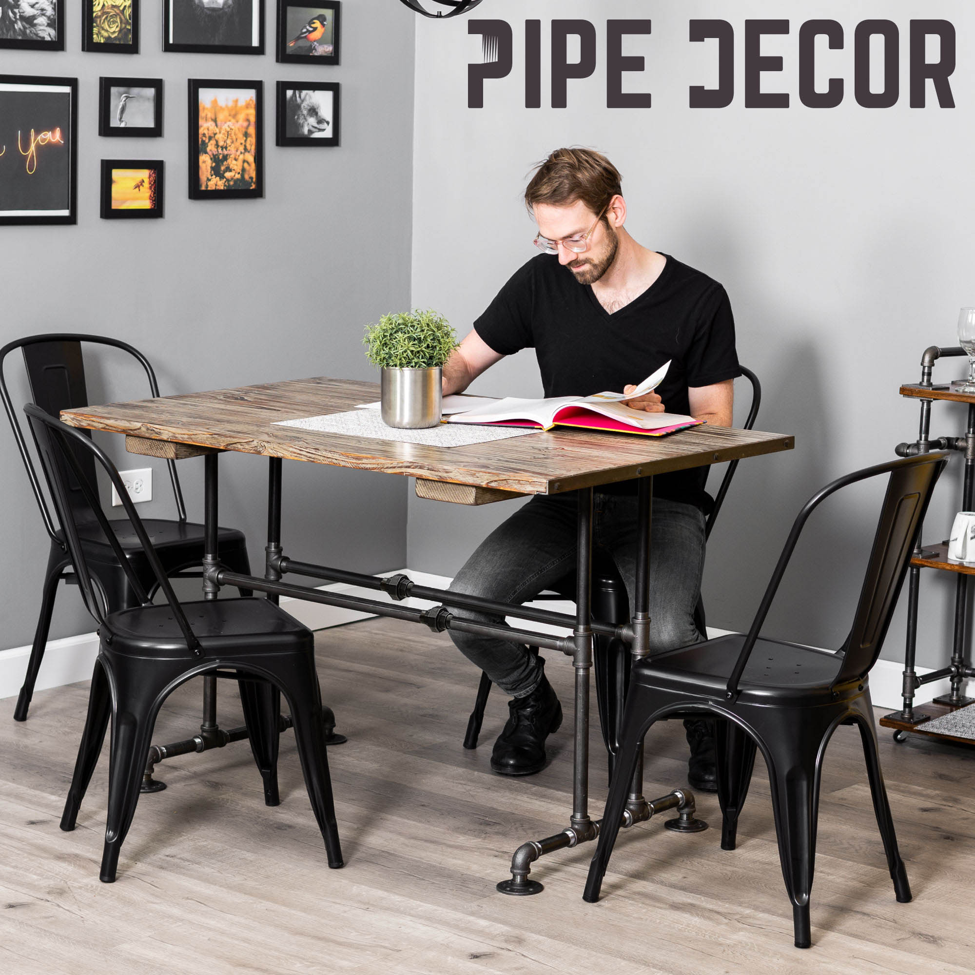 Bridge Kitchen Table By PIPE DECOR - Pipe Decor