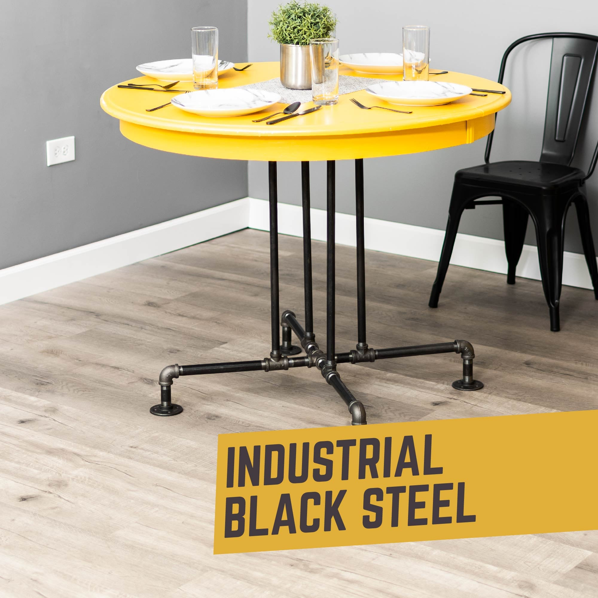 Blackjack Kitchen Table By PIPE DECOR