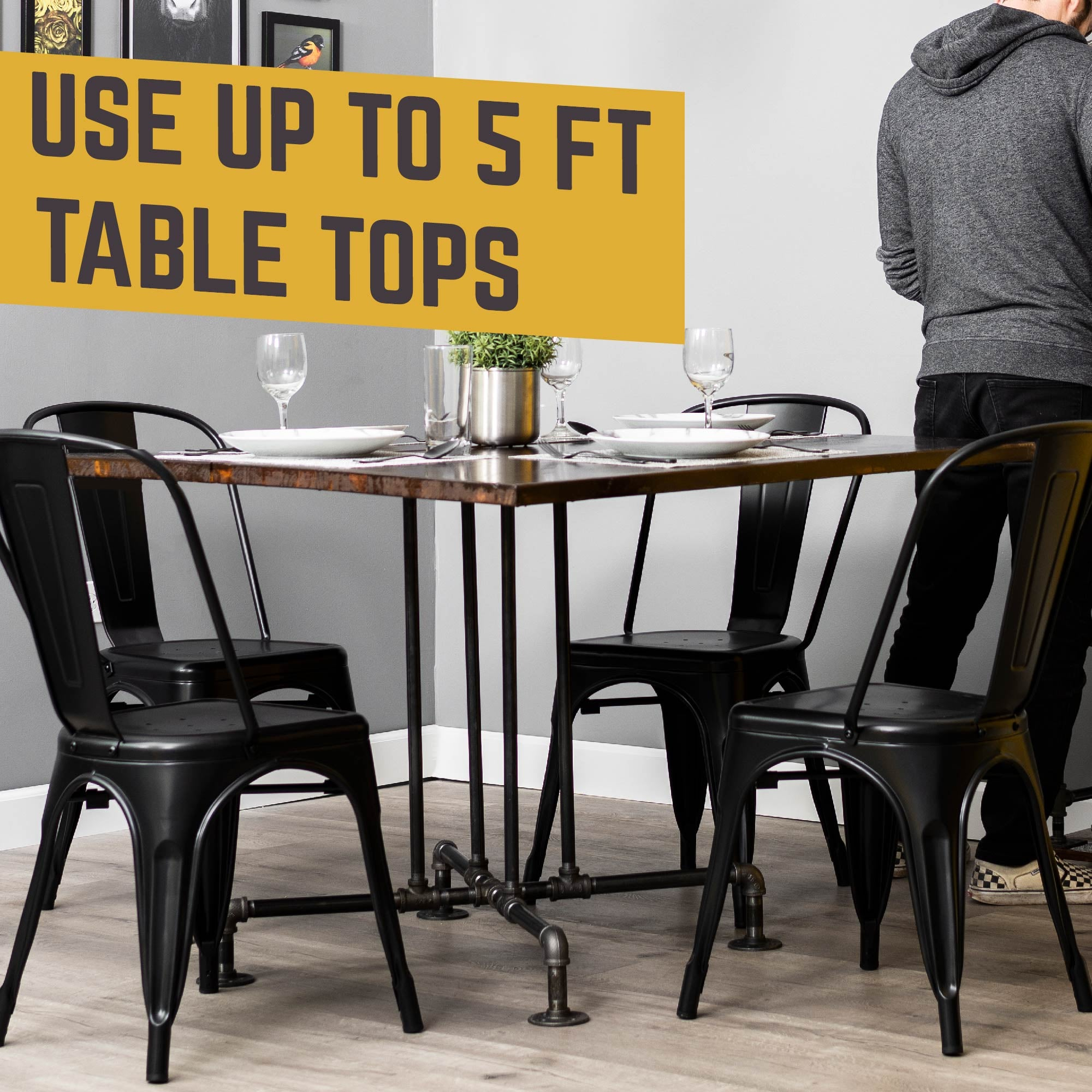 Blackjack Kitchen Table By PIPE DECOR - Pipe Decor