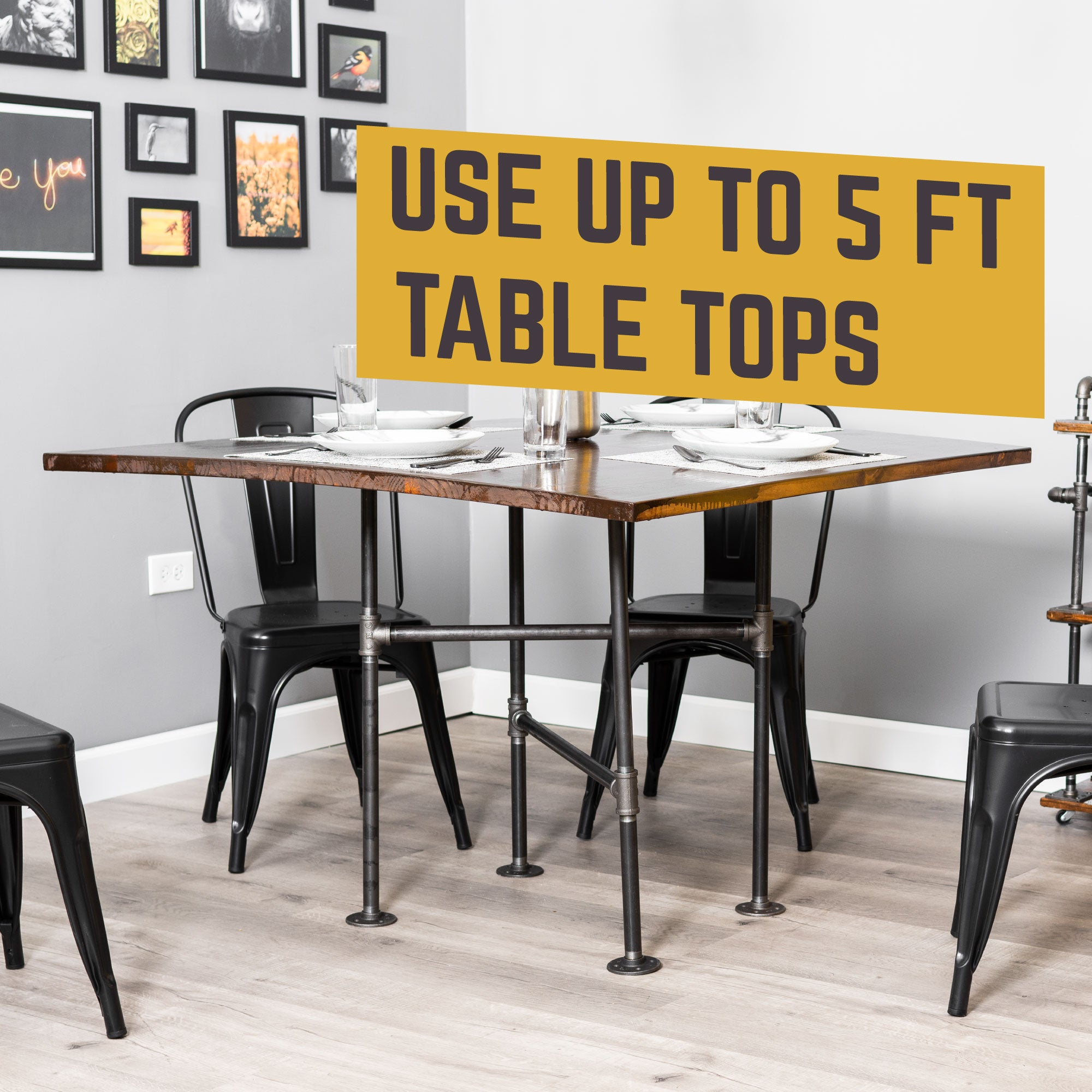 Solitaire Kitchen Table By PIPE DECOR