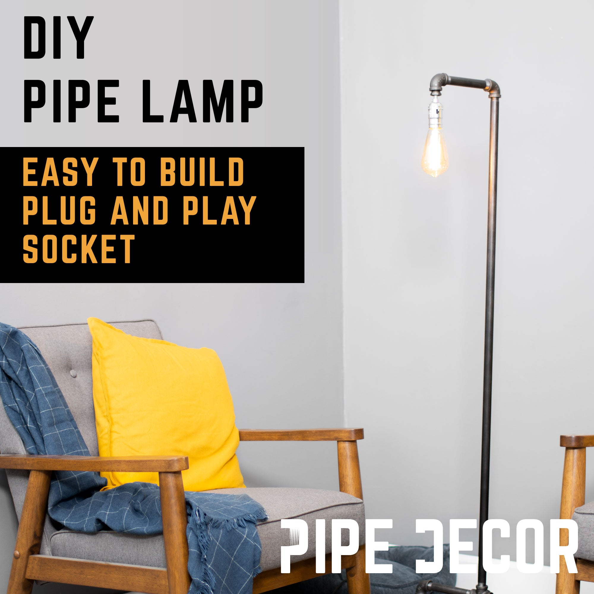 Reader Floor Lamp By Pipe Decor