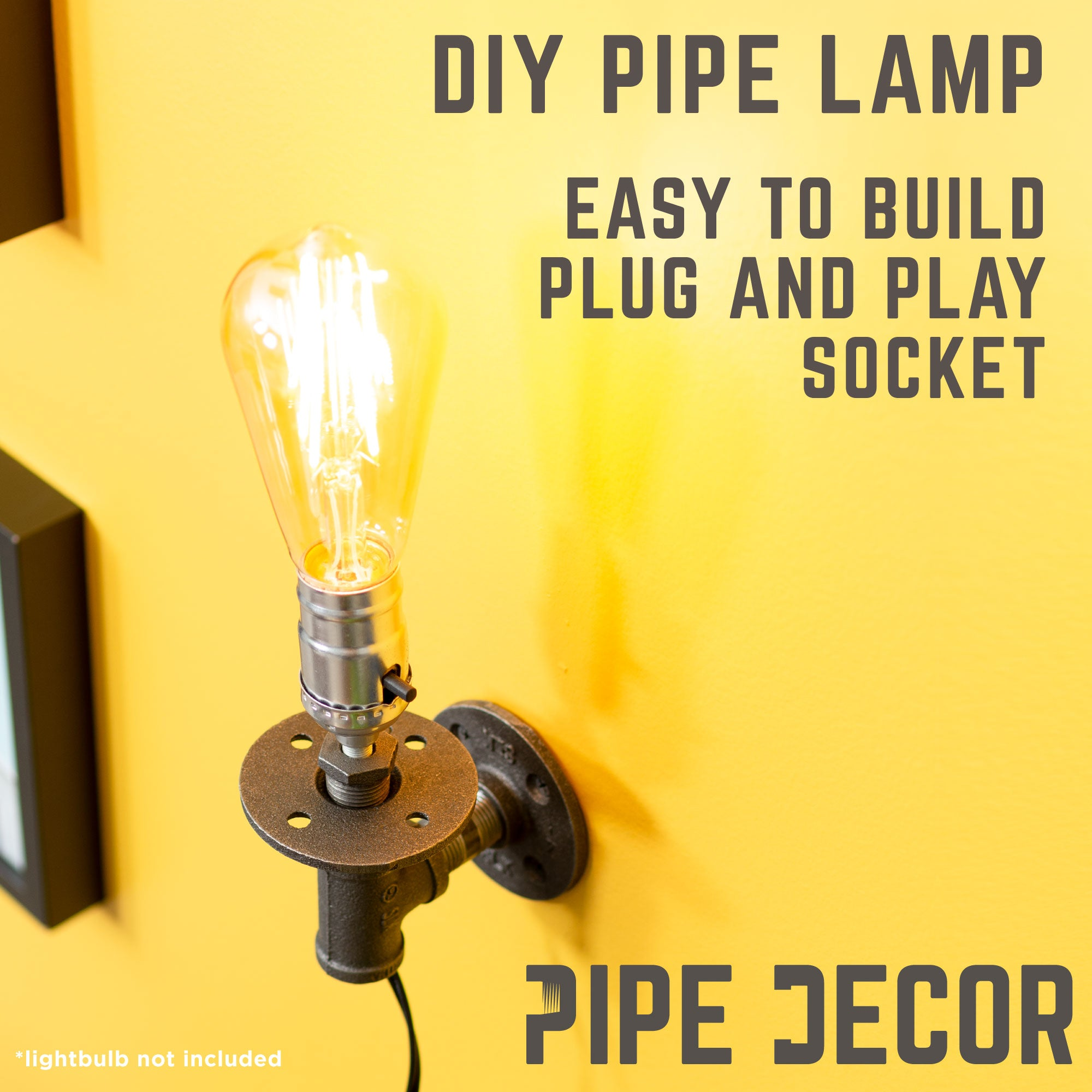 Wall Sconce By Pipe Decor