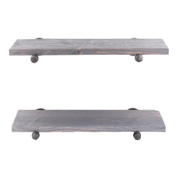 Restore Riverstone Grey 24 in. Shelves with Straight Brackets - Pipe Decor
