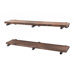 Restore Sunset Brown 36 in. Shelves with Straight Brackets - Pipe Decor