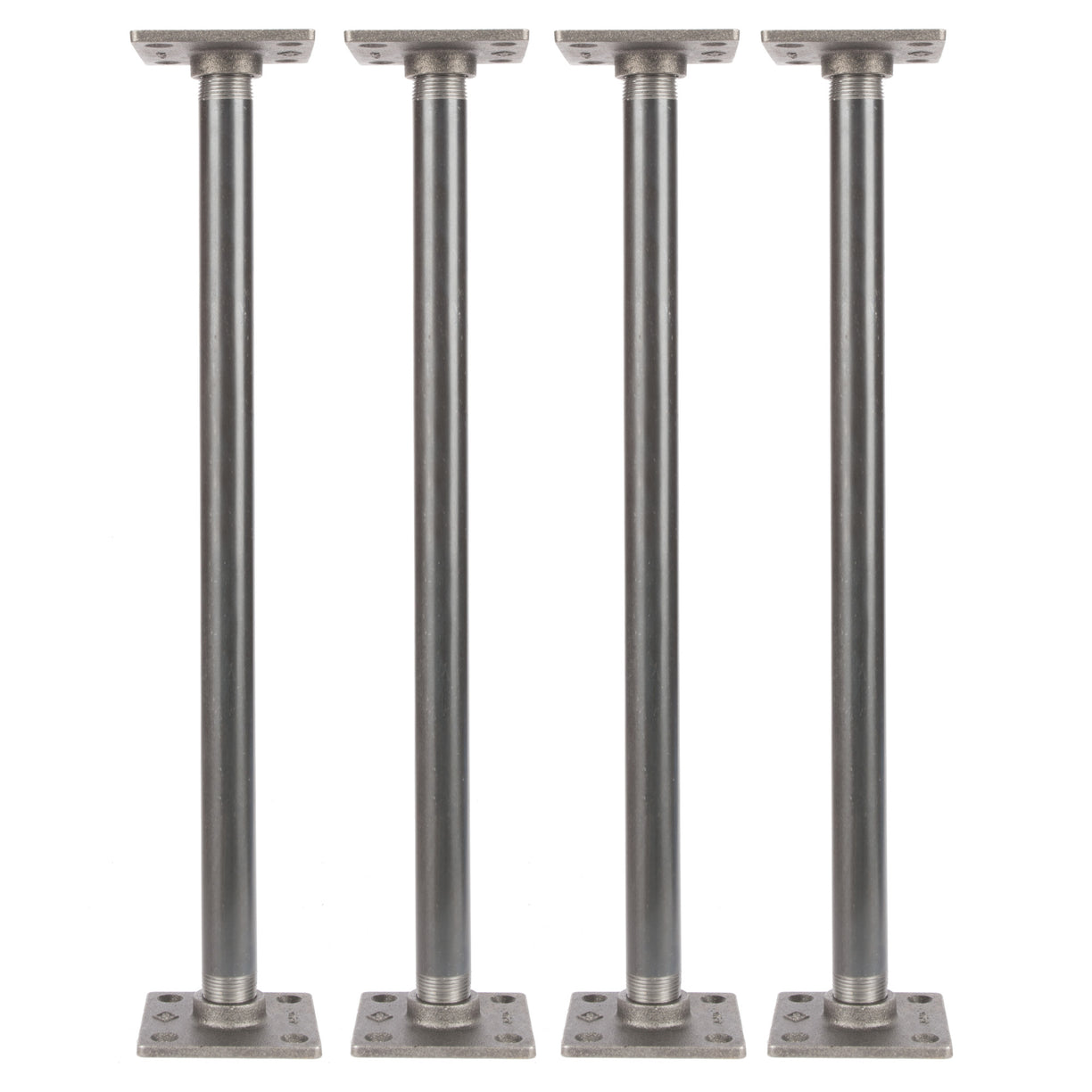 3/4 In  X 18 In  Square Flange Pipe Table Legs - 4 Pack