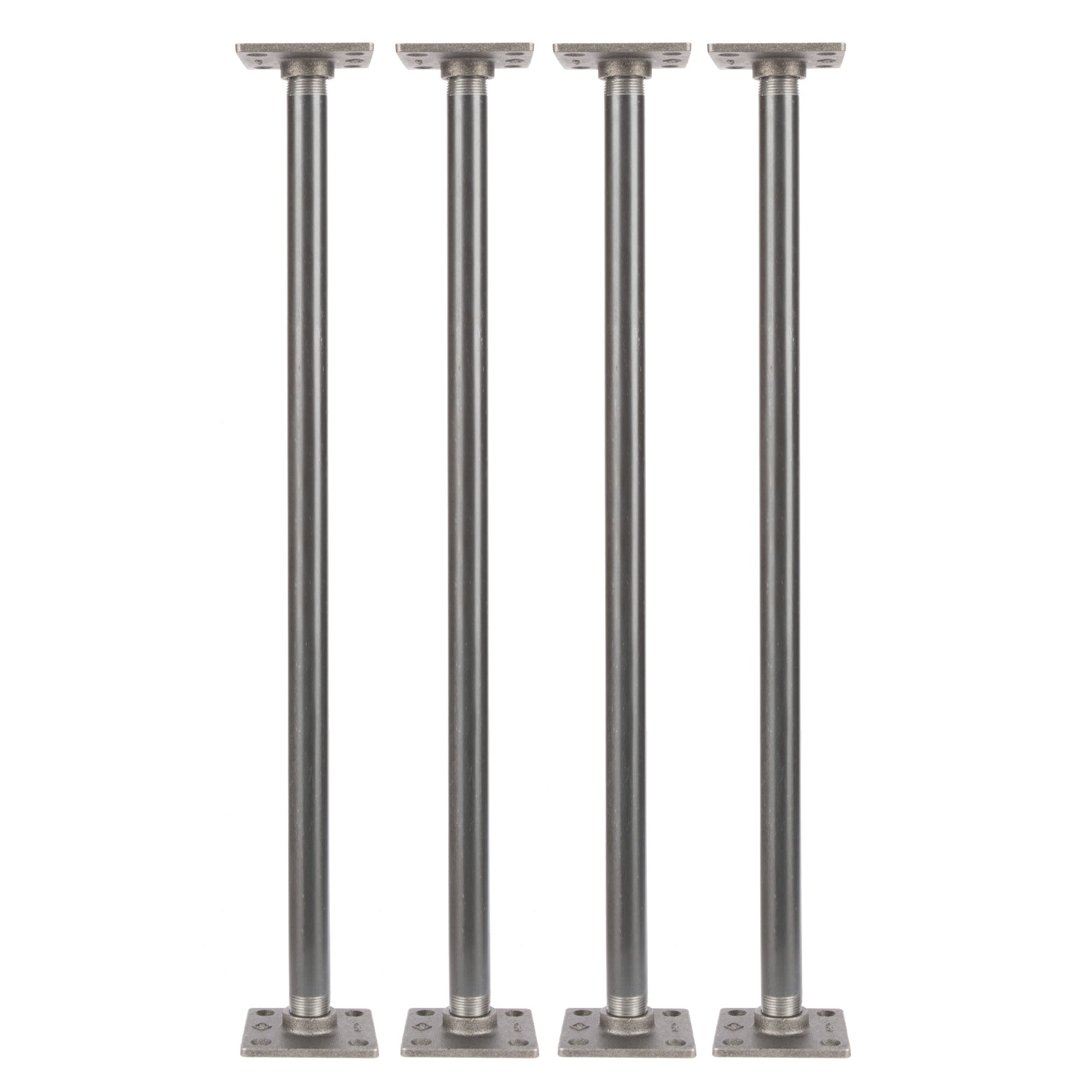 3/4 In  X 24 In  Square Flange Pipe Table Legs - 4 Pack