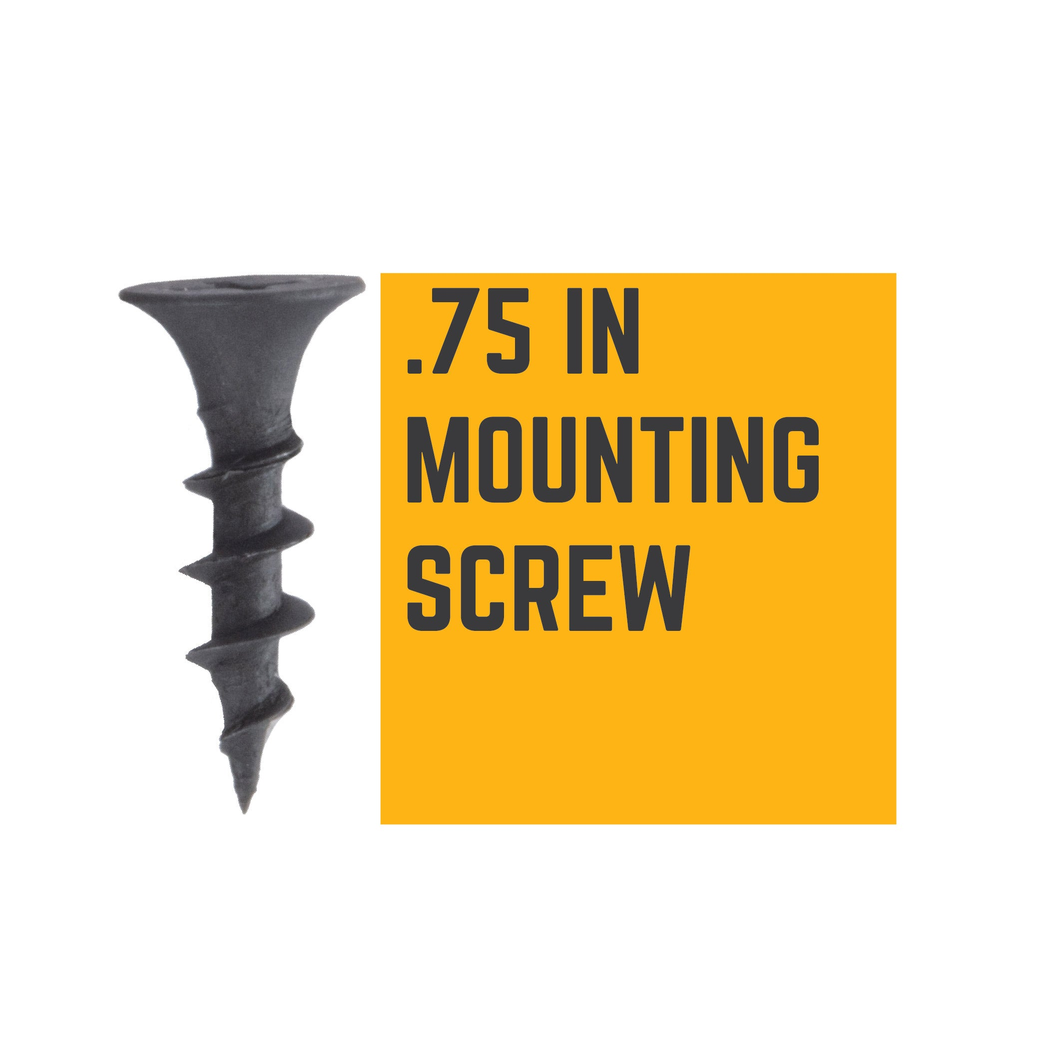 3/4 IN Shelf Mounting Screws - Pipe Decor