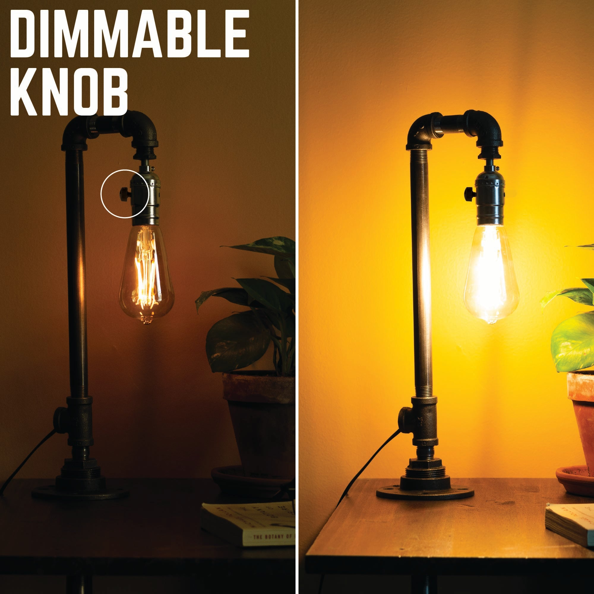 Swag kit with dimmable know and quick connect