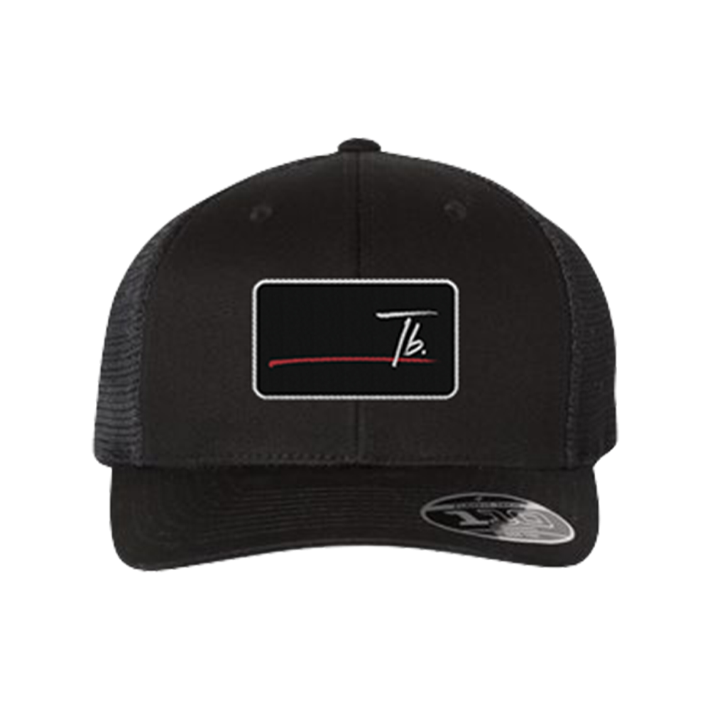 Black Stripe Logo hat