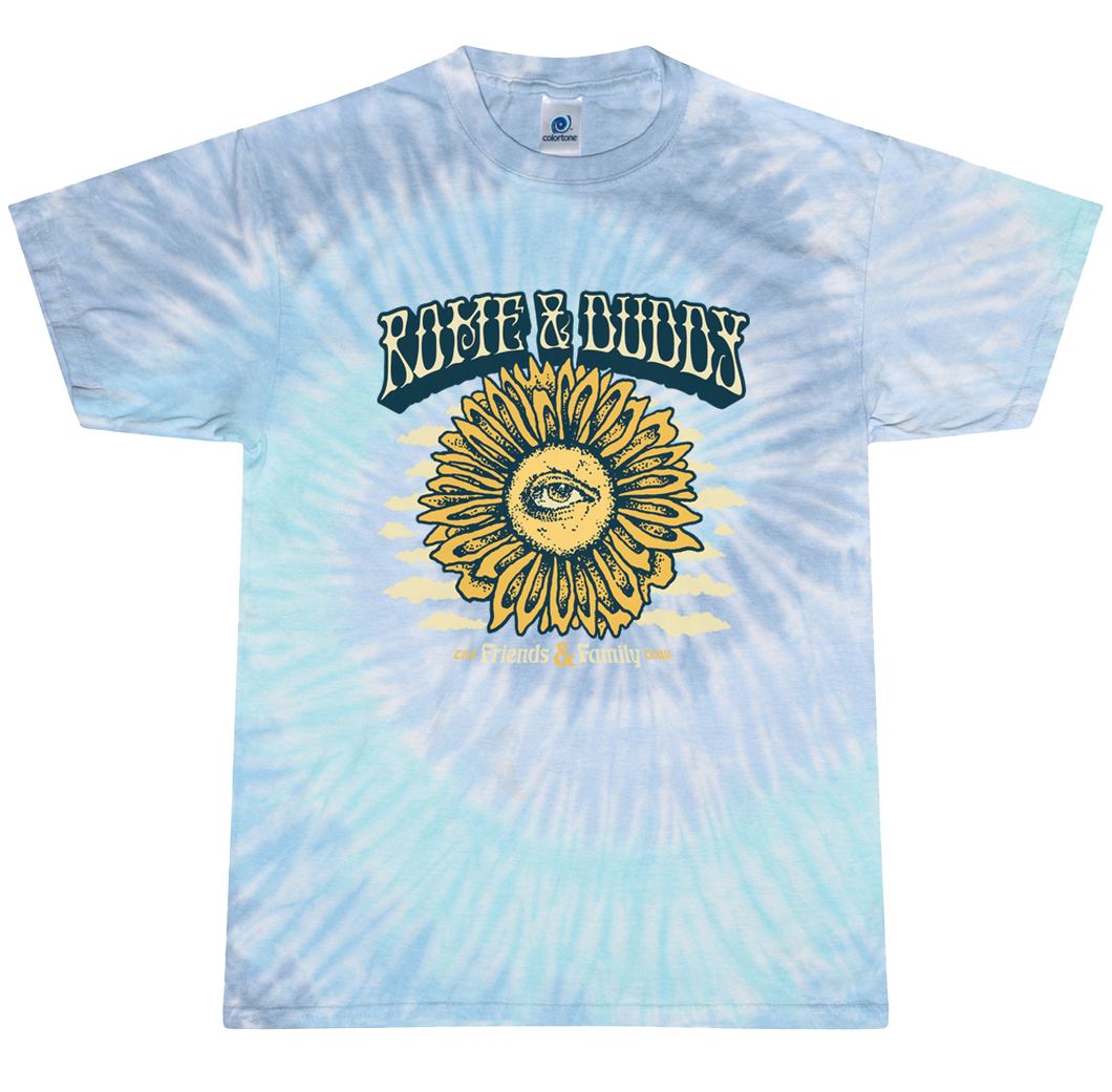 Rome & Duddy - Sunflower Clouds Tie Dye Tee