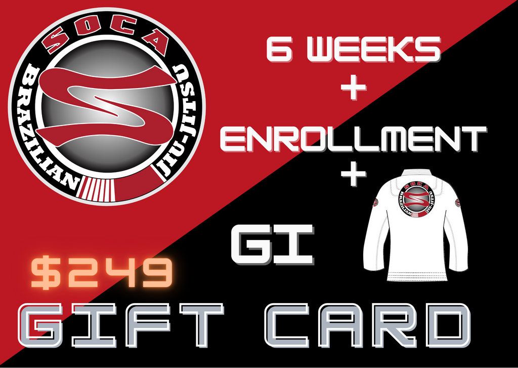 Soca BJJ 6 Weeks Classes Gift Card