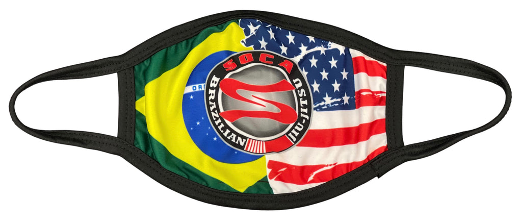 Soca BJJ USA & BR face covering