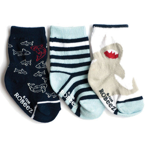 Robeez Boys Under the Sea Socks Blue 12-24 Months