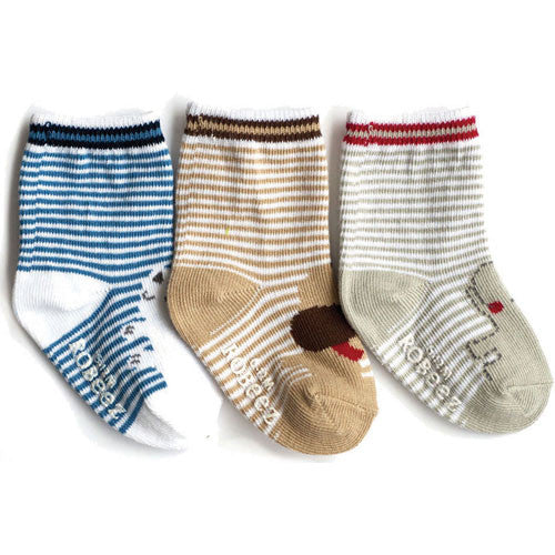 Robeez Boys Animal Friends Socks Multi 12-24 Months