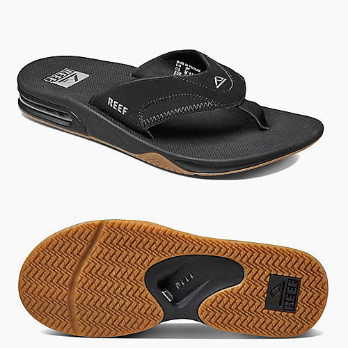 Reef Mens Fanning Black Silver 9.0