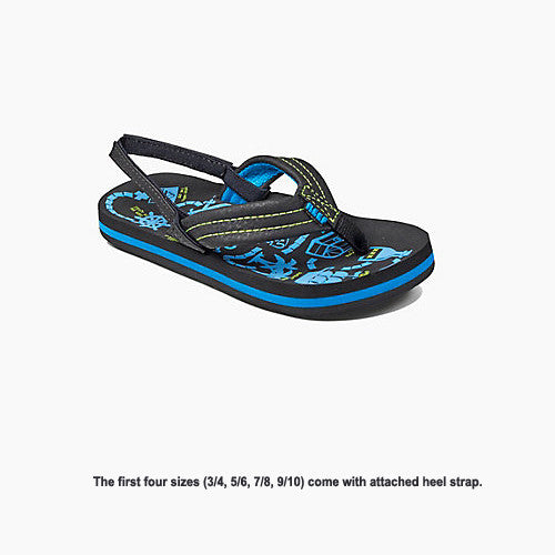 Reef Kid Ahi Glow Glow Blue Glow 4/5 Kids Size