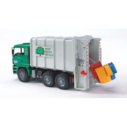 Bruder MAN Garbage Truck rear Loading