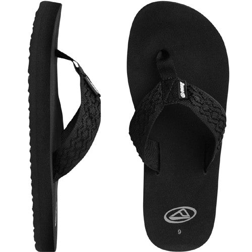 Reef Mens Smoothy Sandal Black 8.0